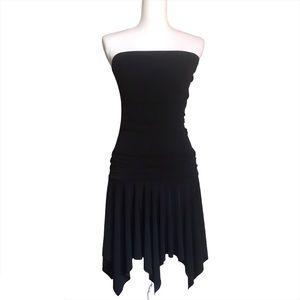 Rampage Strapless Handkerchief Hem Dress